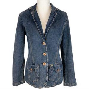 Levi's Autin Blazer Denim Jean Jacket Size Medium